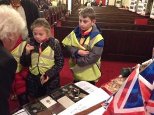 cubs examining medals nov 14